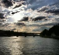 #paris #france #francia #verano #été #recuerdos #souvenirs #ciel #cielo #sky #nubes #nuages #clouds #sena #sinfiltro